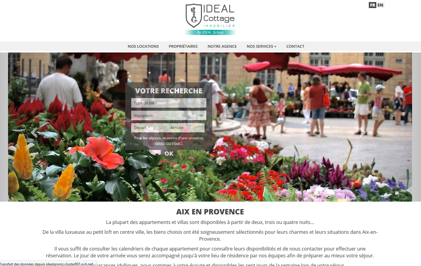 Wagaia  Agence web Marseille, réalise le site de Ideal Cottage