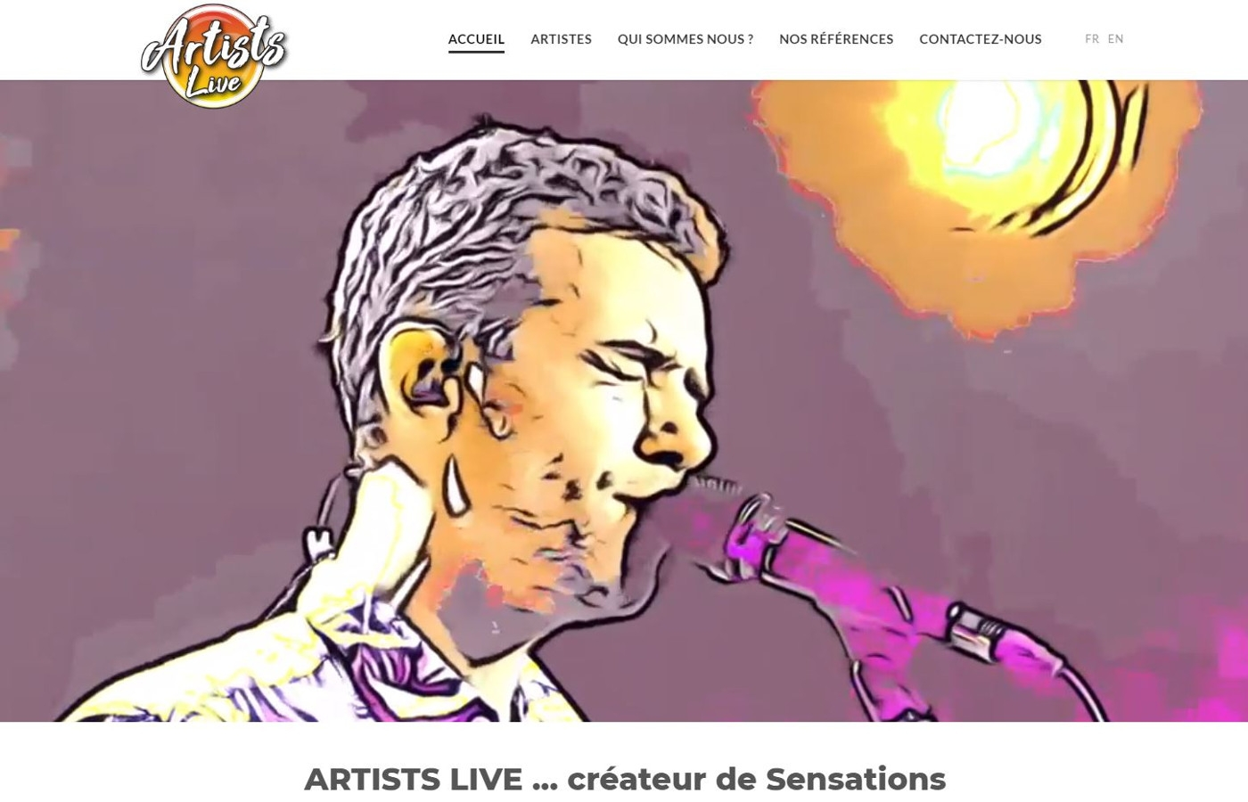 Wagaia  Agence web Marseille, réalise le site de Artists Live