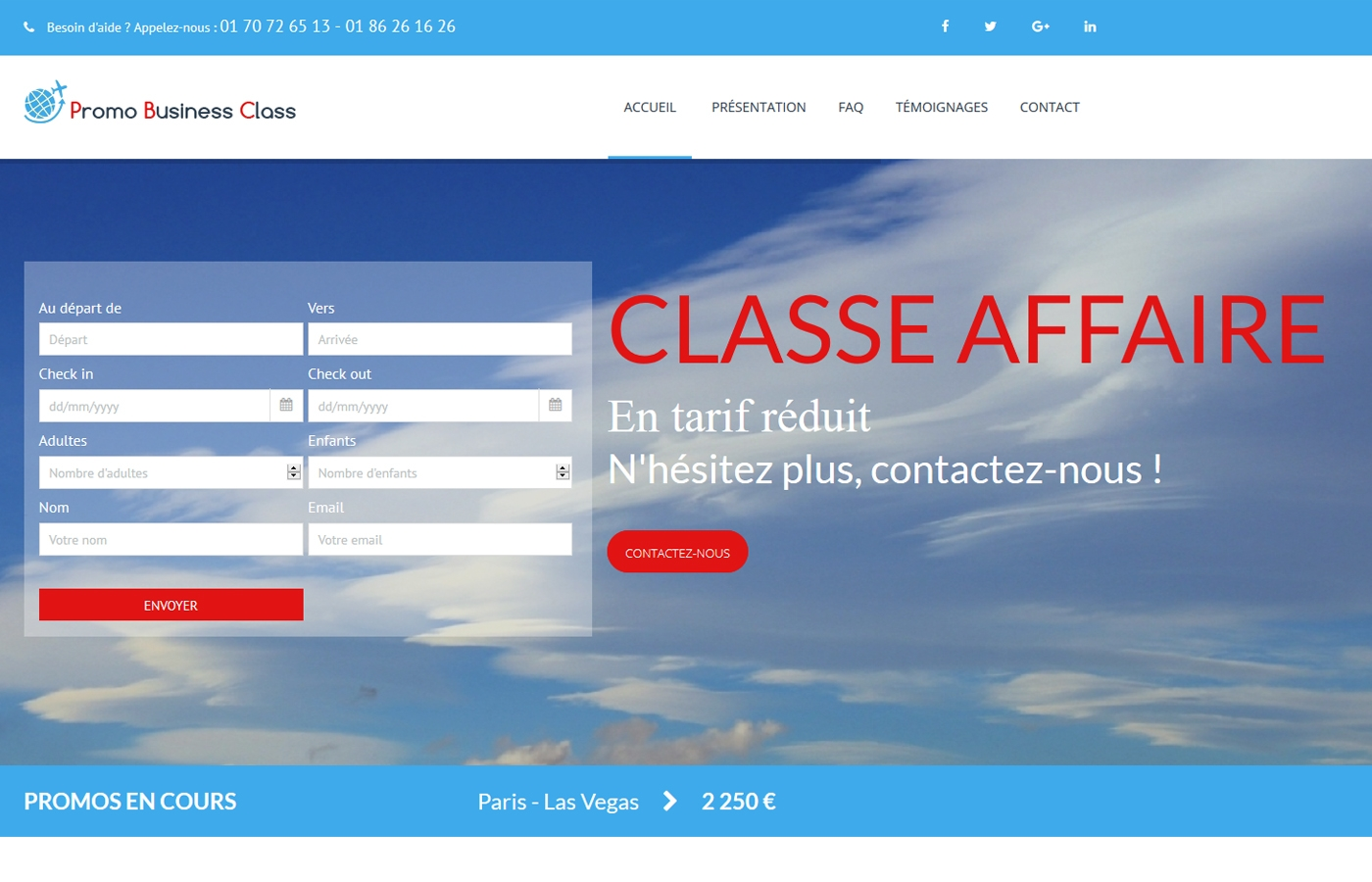 Wagaia  Agence web Marseille, réalise le site de Promo Business Class