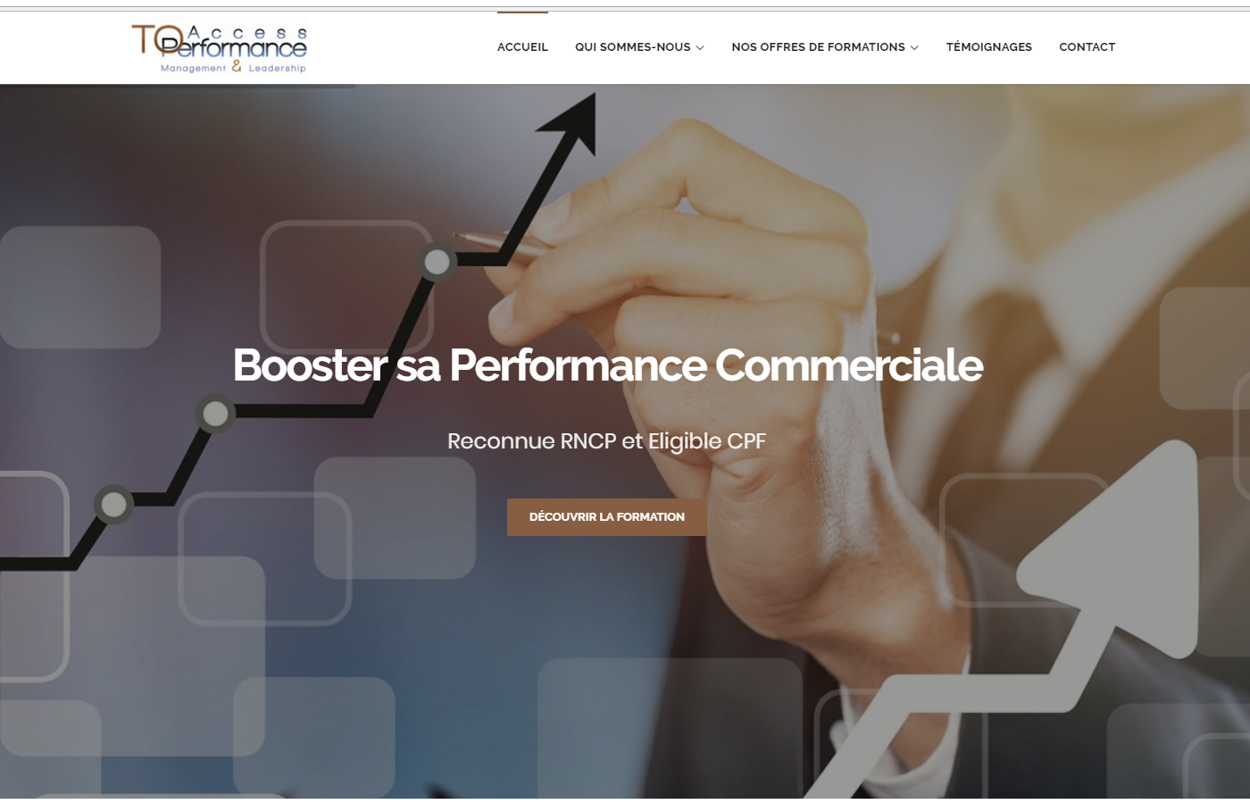 Wagaia  Agence web Marseille, réalise le site de Access To Performance