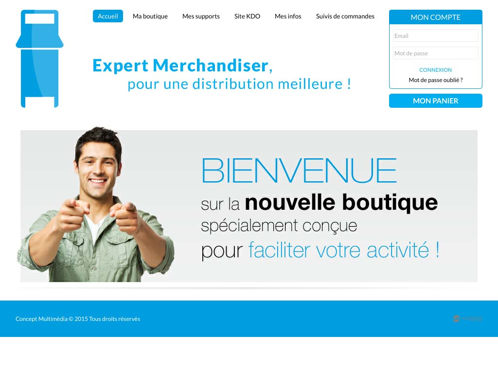 Wagaia  Agence web Marseille, réalise le site de Distri Merch