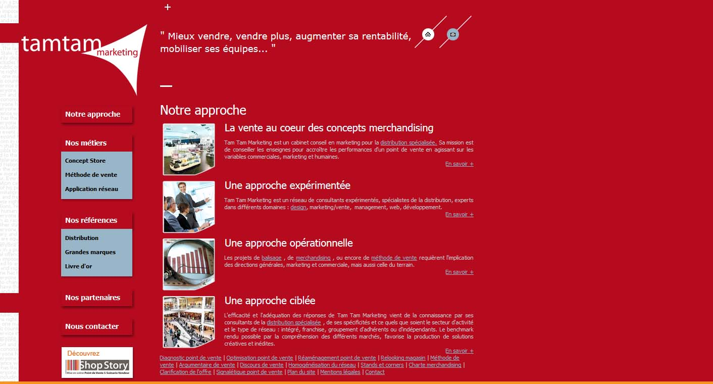 Wagaia  Agence web Marseille, réalise le site de Tam Tam Marketing
