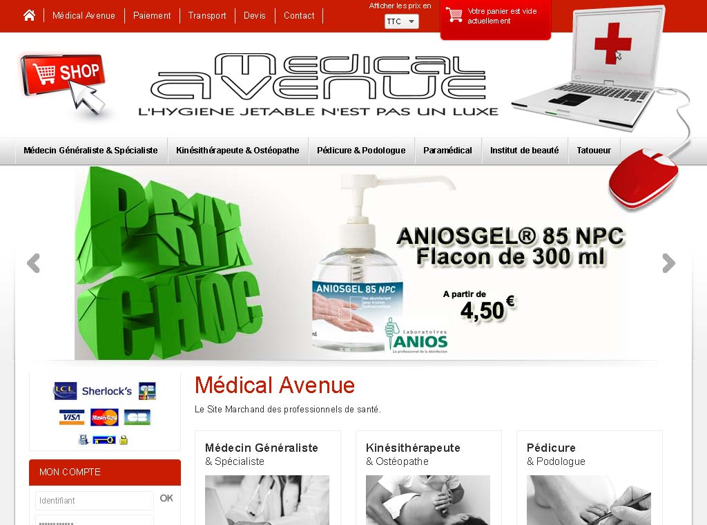 Wagaia  Agence web Marseille, réalise le site de Medical Avenue