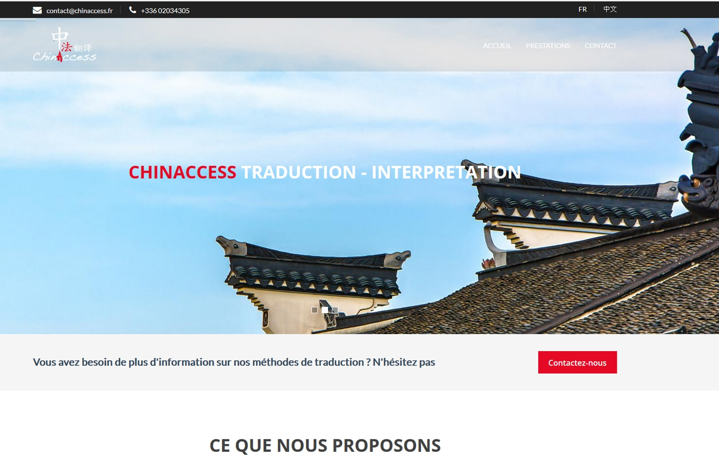 Wagaia  Agence web Marseille, réalise le site de Chinaccess