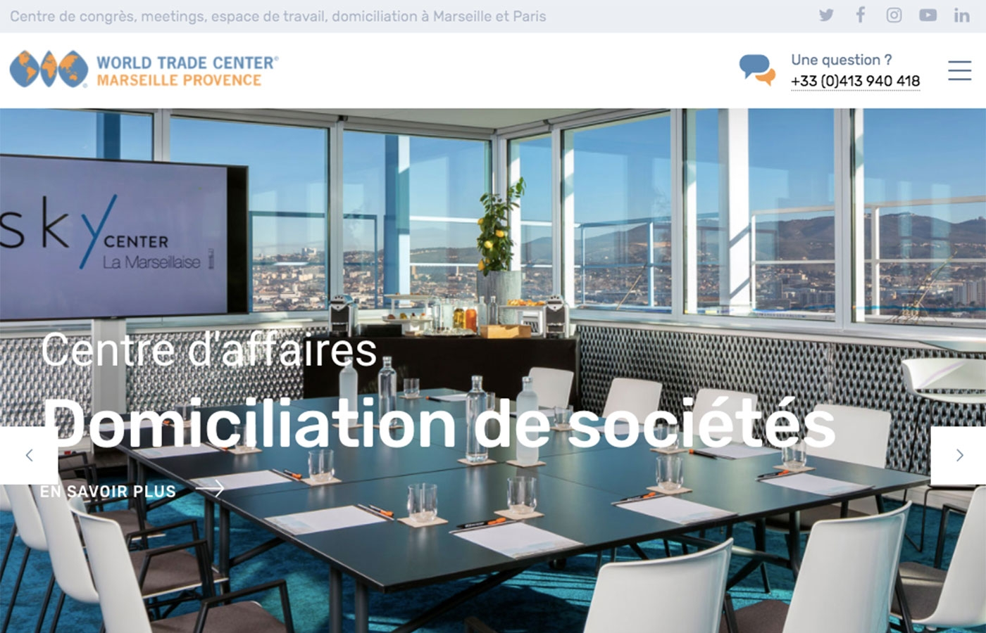 Wagaia  Agence web Marseille, réalise le site de World Trade Center Marseille Provence