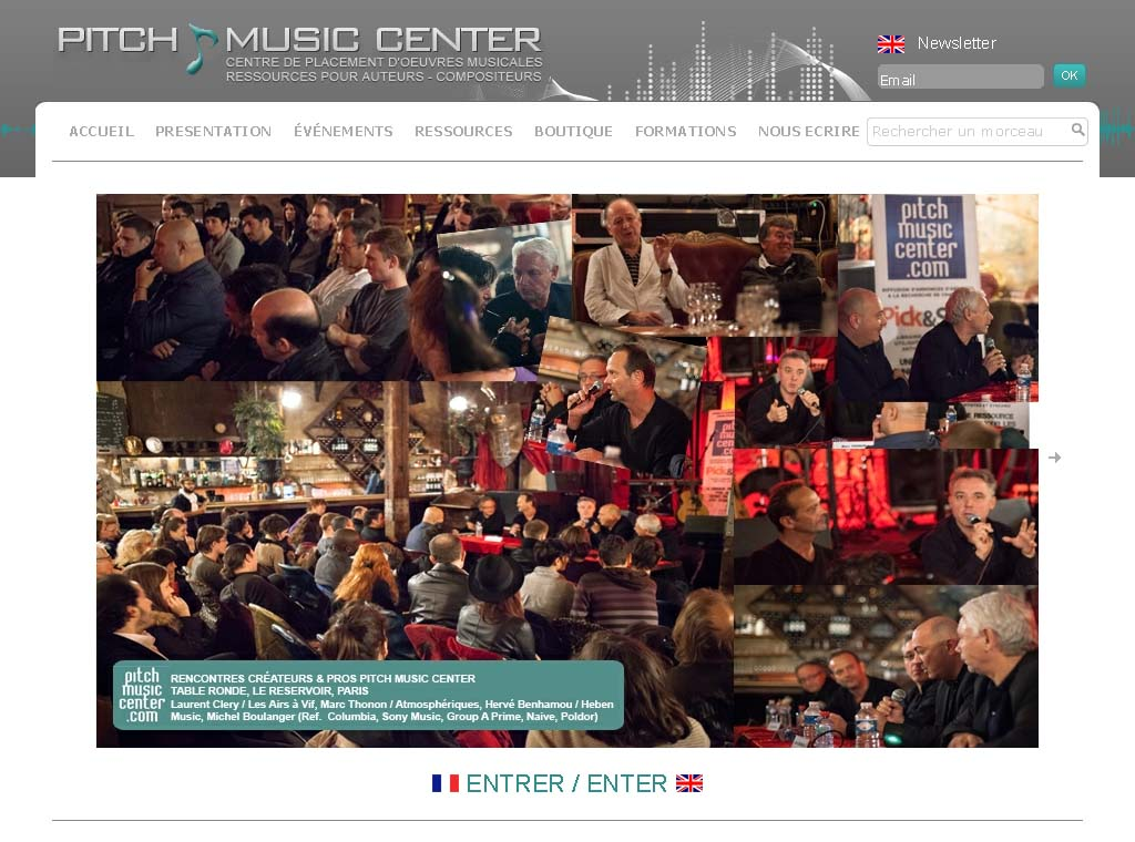Wagaia  Agence web Marseille, réalise le site de Pitch Music Center